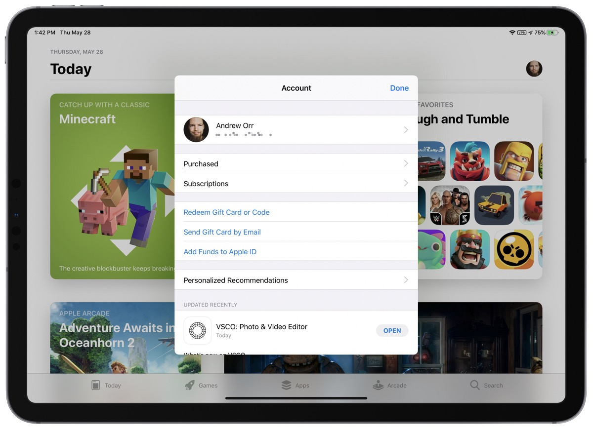 How to update apps on iPad