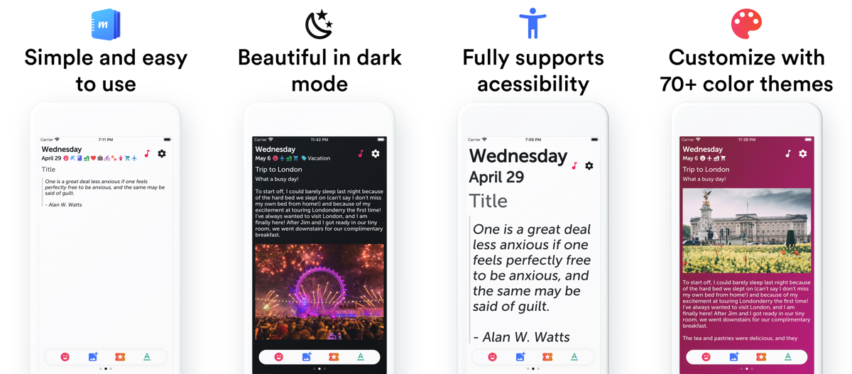 'Miary' is a Minimalist Diary App That Syncs to iCloud