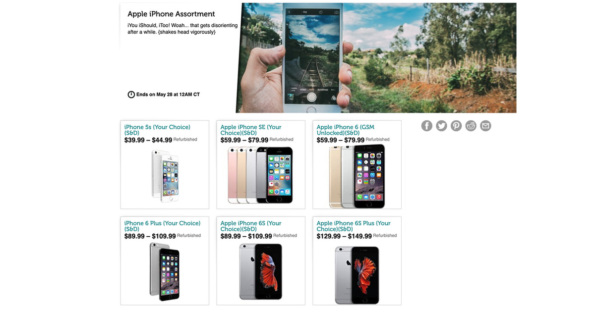 Get a Refurbished iPhone For $39.99