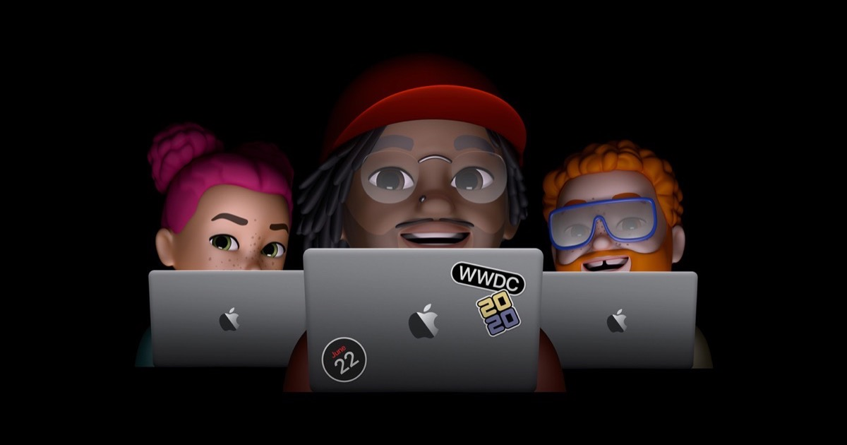 Image of three memojis as part of the WWDC 2020 announcement.