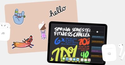 2020 apple back to school header showing AirPods, mac, and iPad.