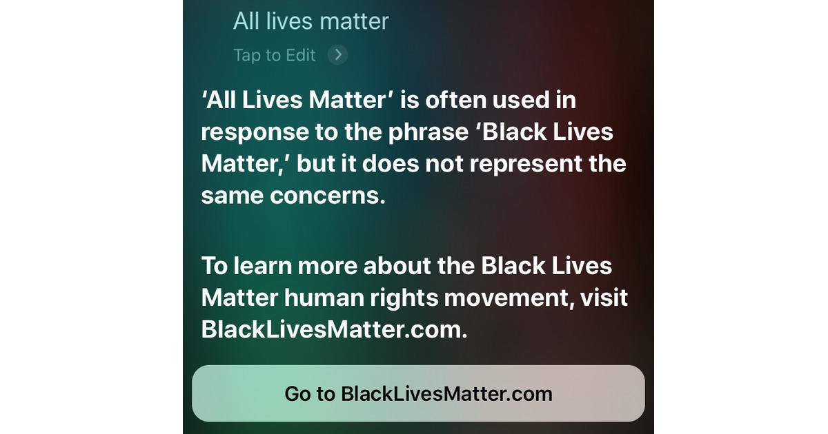 All Lives Matter Siri