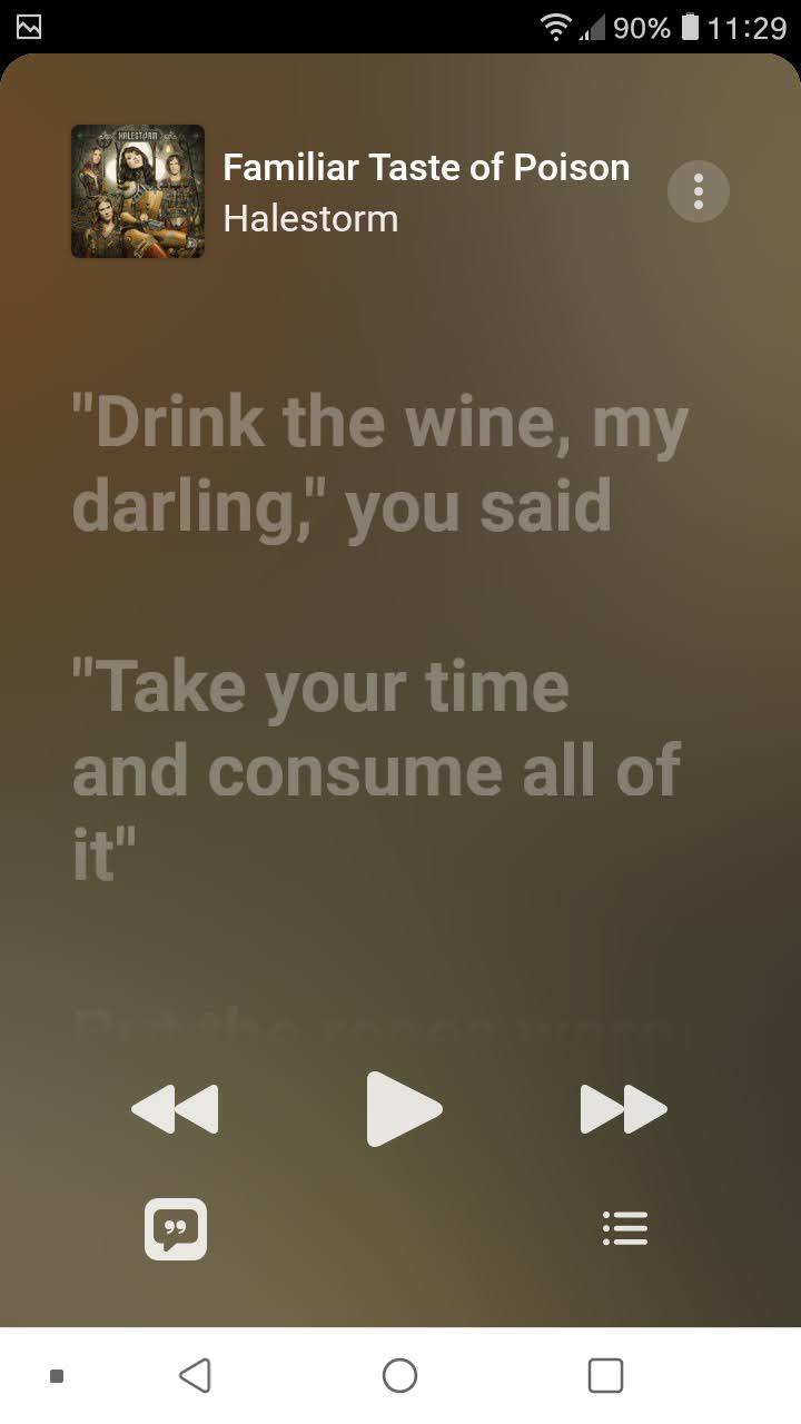 AppleMusicOnAndroidFollowLyrics