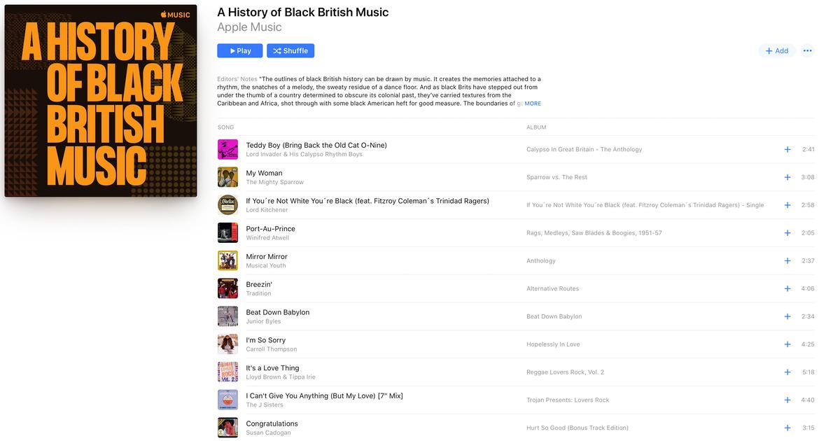 Apple Music Playlist: 'A History of Black British Music'