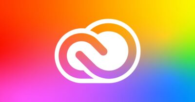Creative cloud rainbow icon