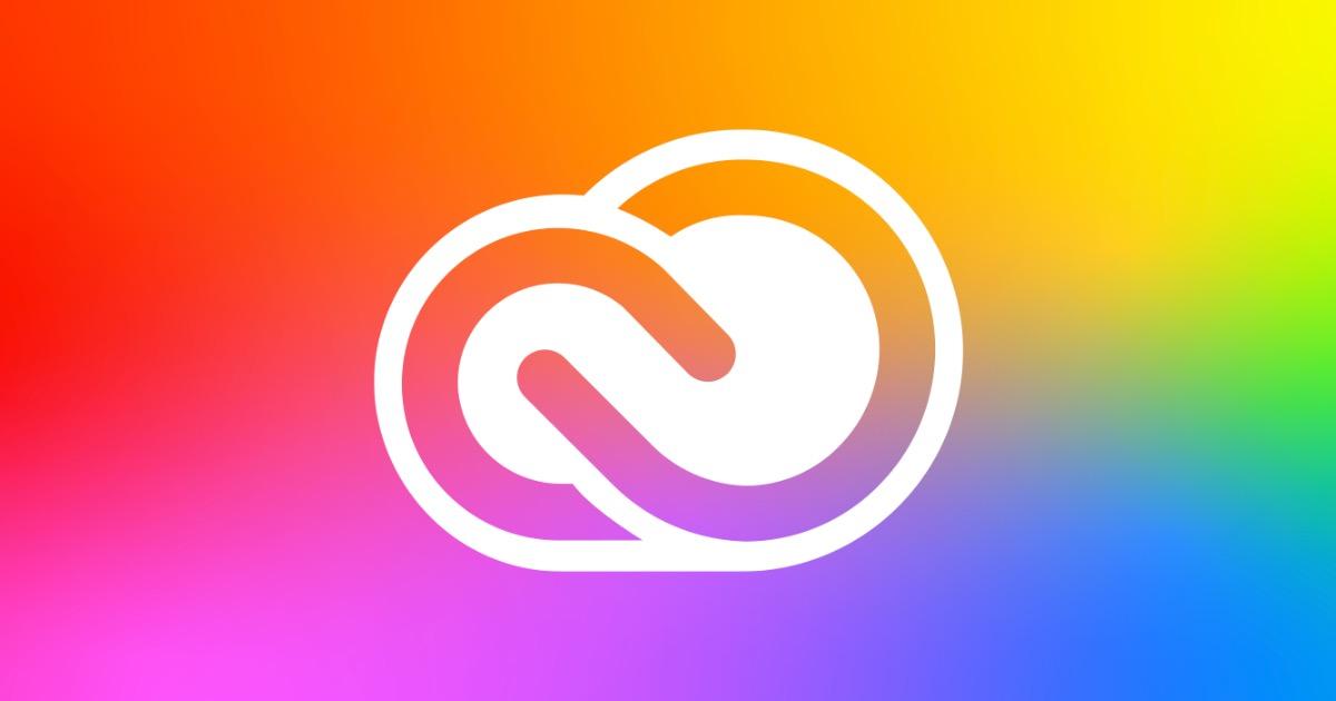 Creative cloud rainbow icon