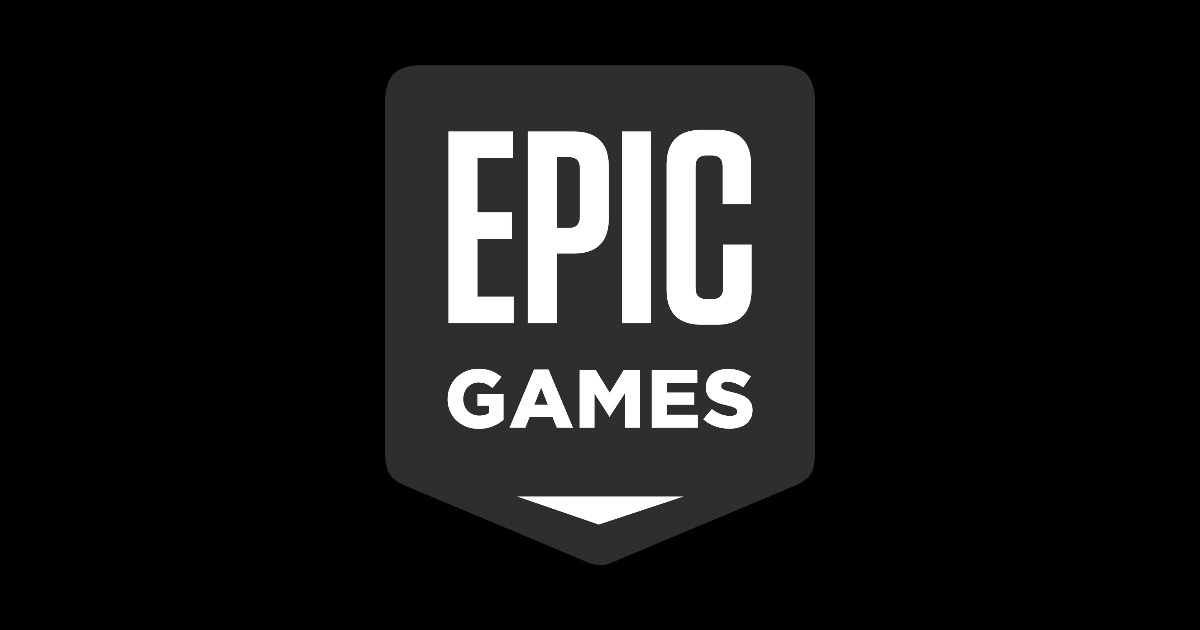 Epic games logo Black