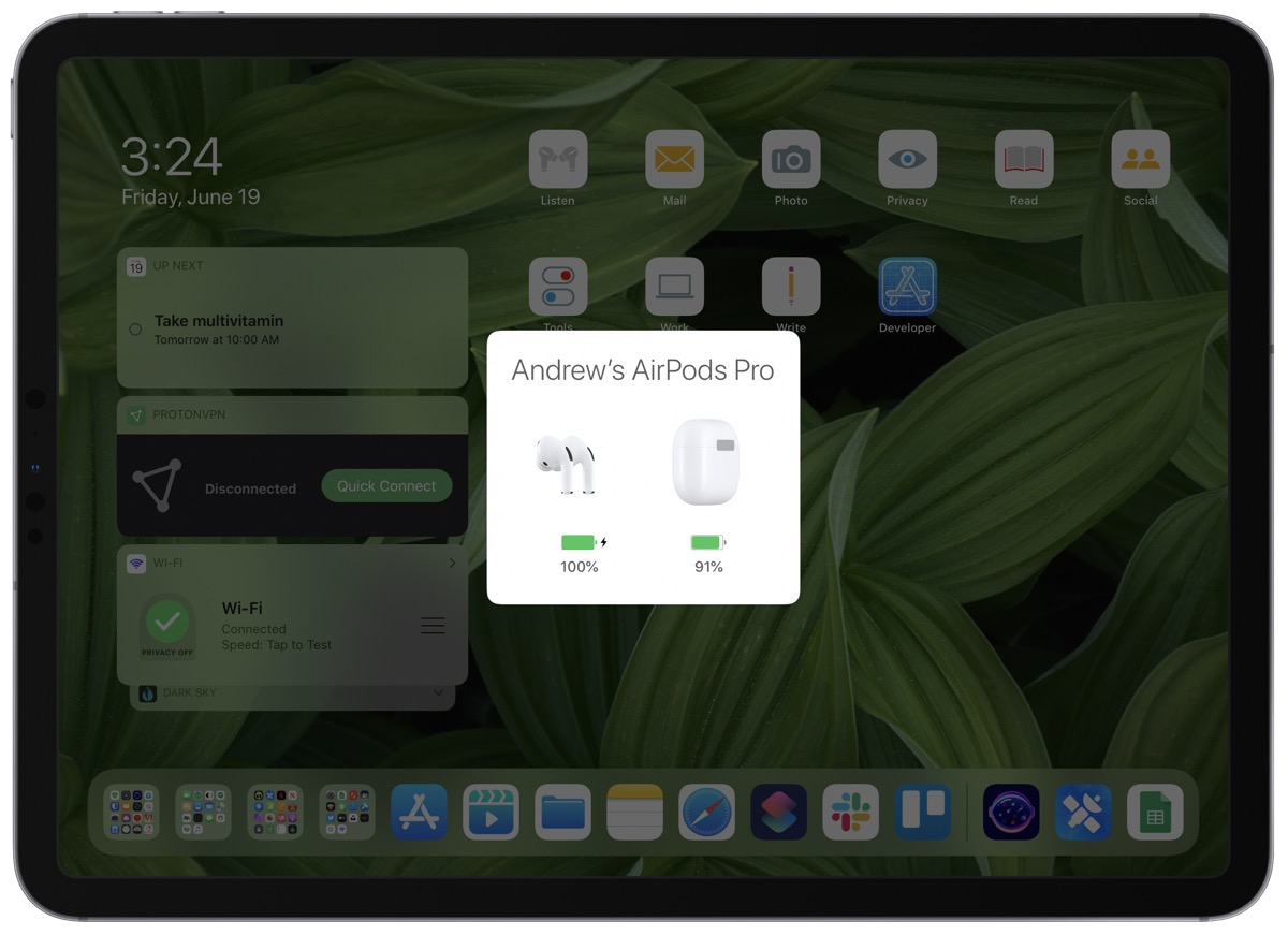 Screenshot showing How to pair airpods on iPad.