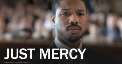 Still from Just Mercy, a film starring Michael B. Jordan and Jamie Foxx.