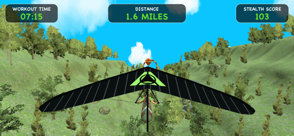 The Speed Gliding game has you steer a hang glider with the Stealth Core Trainer.