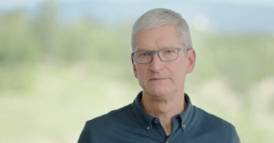 Tim Cook announcing Apple's Racial Equity Initiative