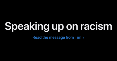 Tim Cook Speaking up on Racism