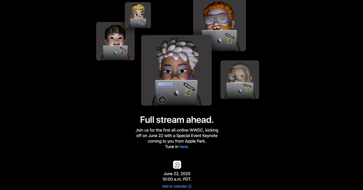 Invite for WWDC 2020 Full Stream Ahead keynote