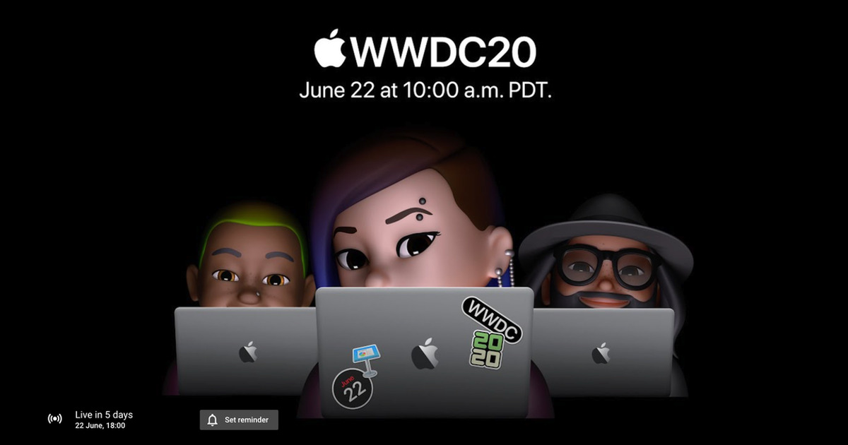 Set Reminder For WWDC 2020 YouTube Live Stream