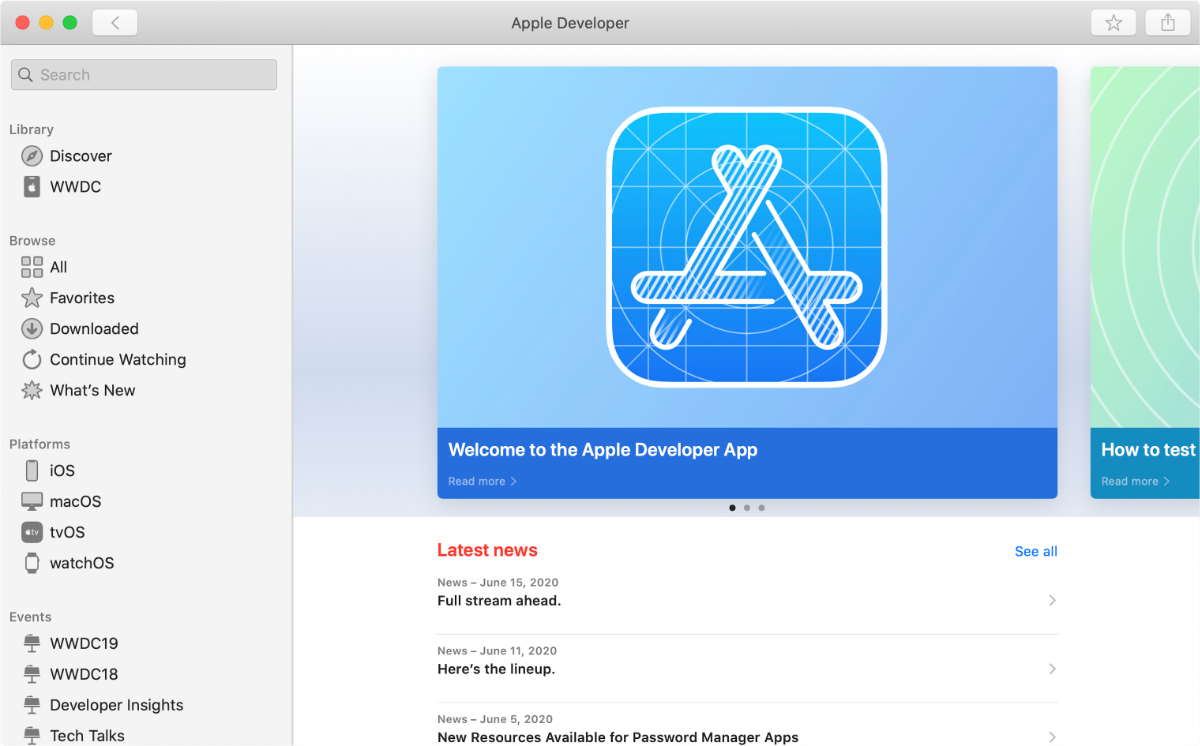 Apple Developer Mac App Updated With New UI