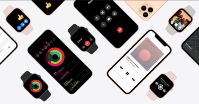 Image showing Apple Watches and iPhones together.