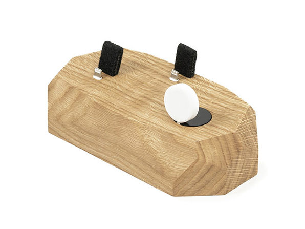 This Wooden Magnetic Dock Powers Your iPhone, Apple Watch, AirPods: $67.99