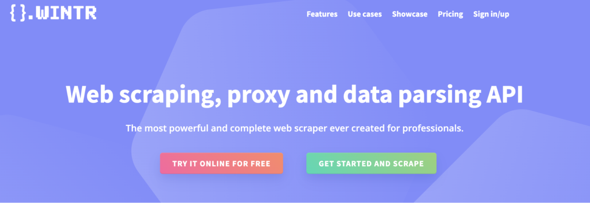 Wintr - Web Scraping and proxy API
