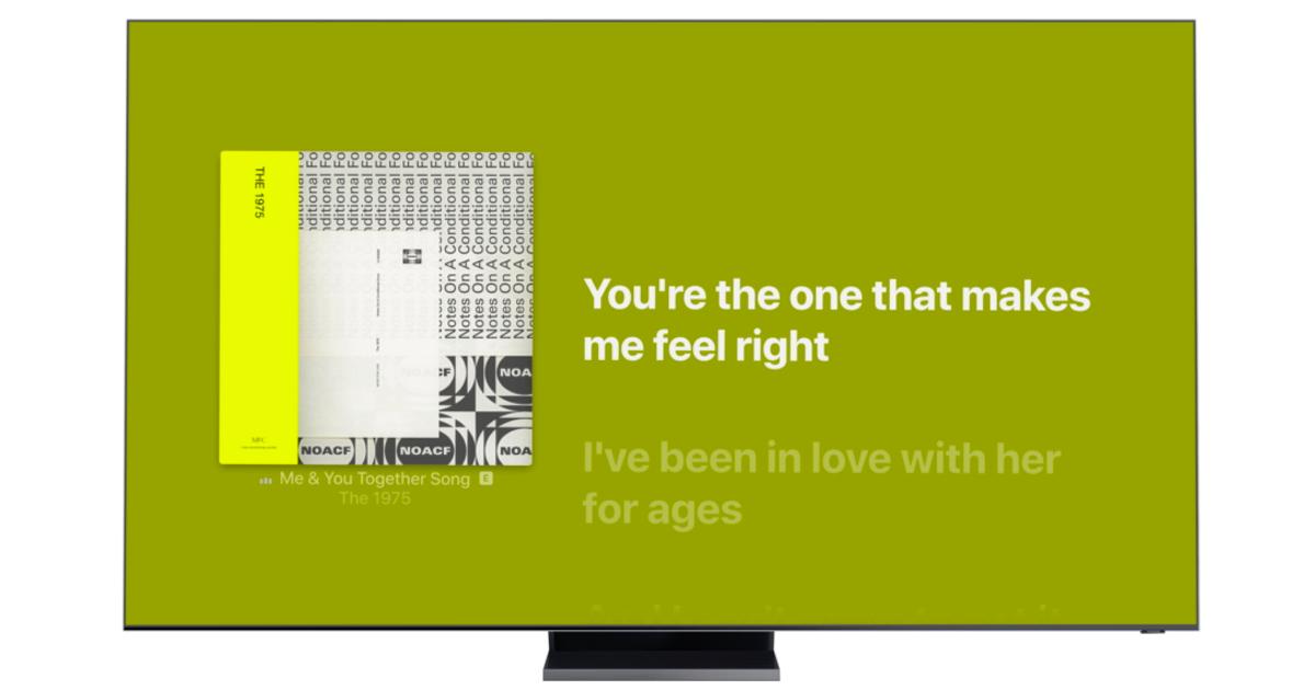 Apple Music lyrics on Samsung Smart TV