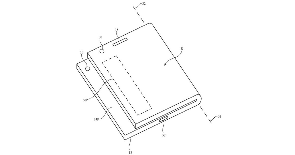 Image from Apple folding device patent