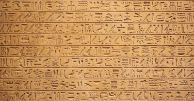Photo of Egyptian hieroglyphs
