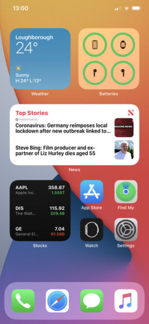 Widgets in ios 14