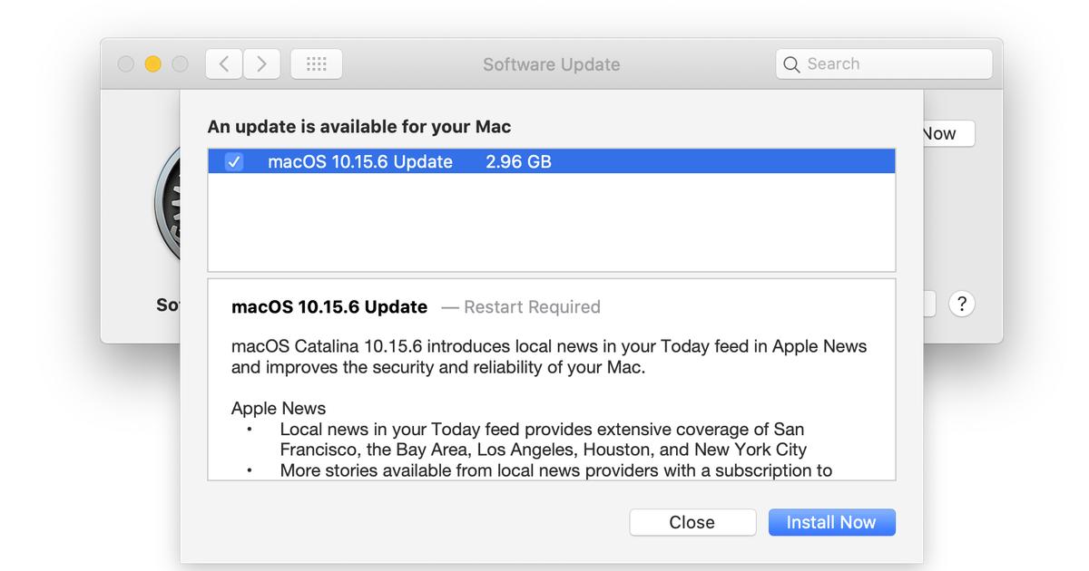 MacOS 10.15.6 Screenshot update