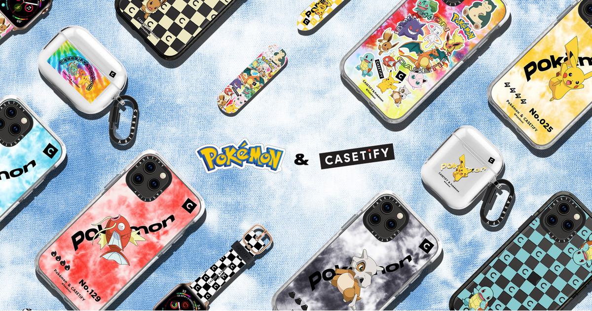 Pokémon and CASETiFY iPhone Apple Watch AirPods cases