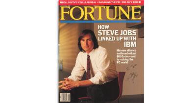Steve Jobs signed fortune
