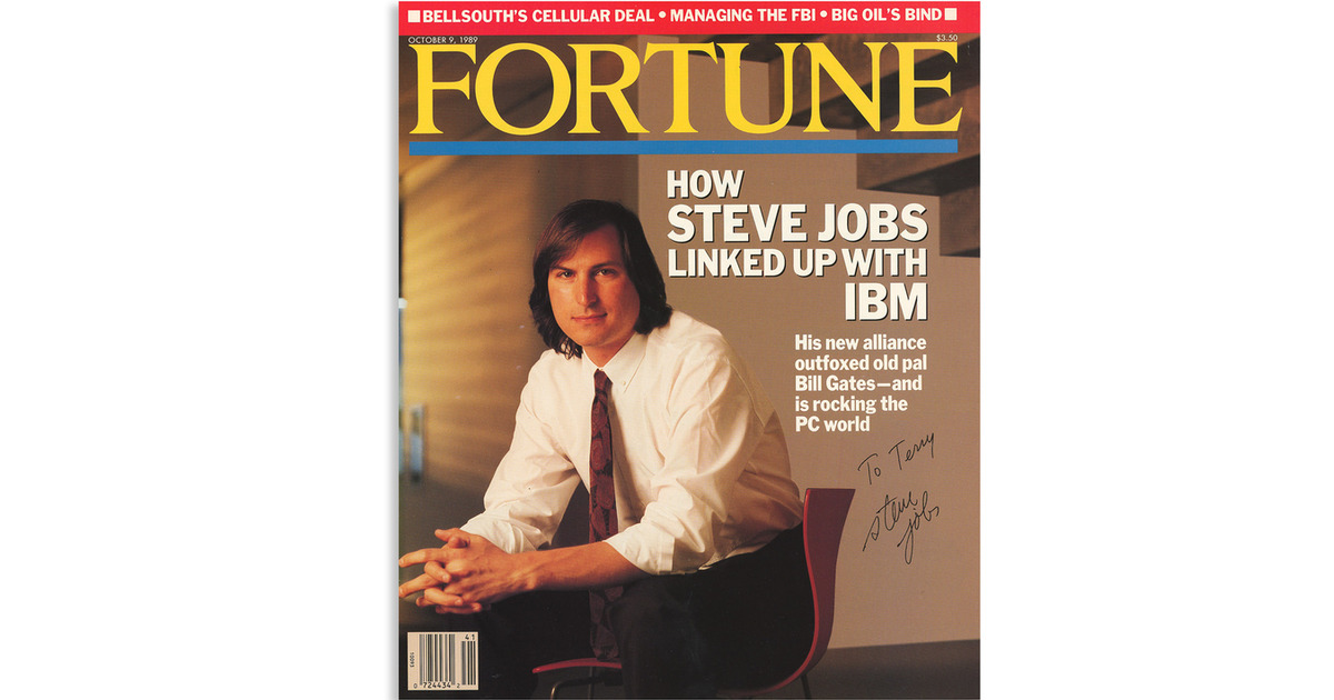 Steve Jobs signed fortune