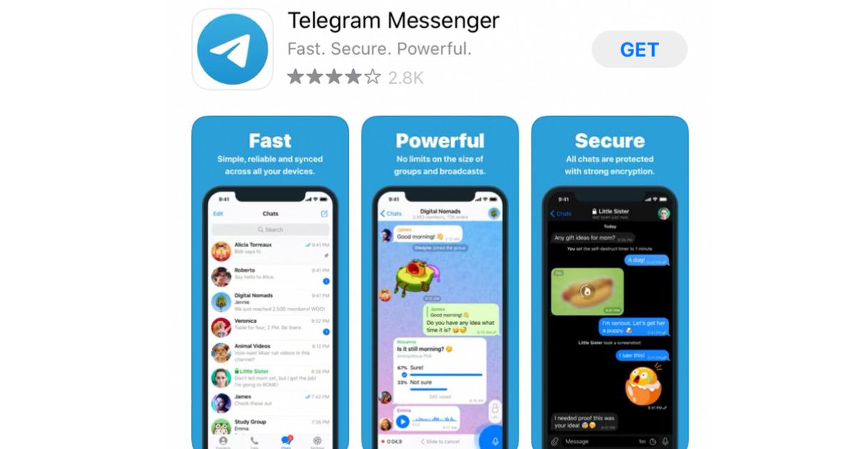Telegram in the Apple App Store