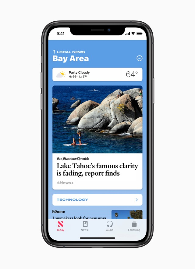 Image of local news in Bay Area in apple news