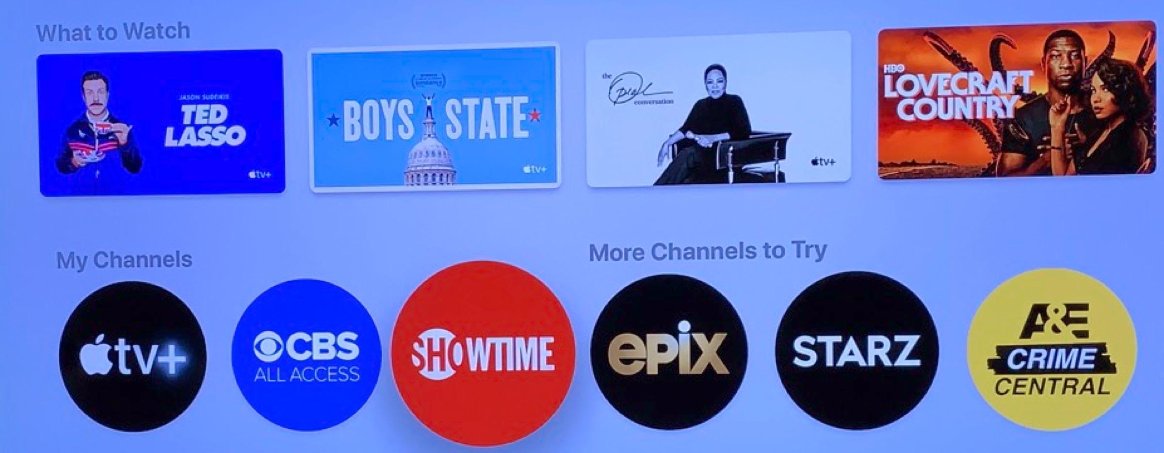 Apple TV+ Channels