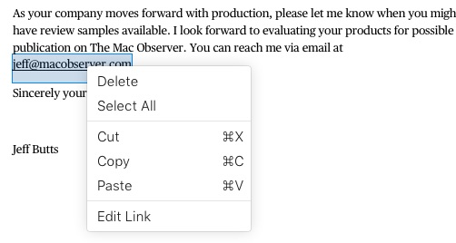Editing Links in Apple Pages