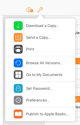 Printing or Publishing Your Pages Document