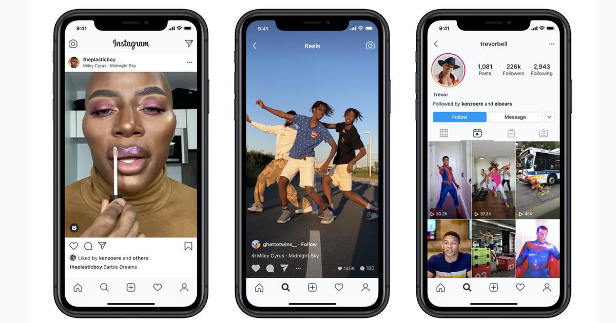 Instagram Reels on iPhone