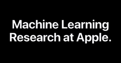 Machine learning research at apple