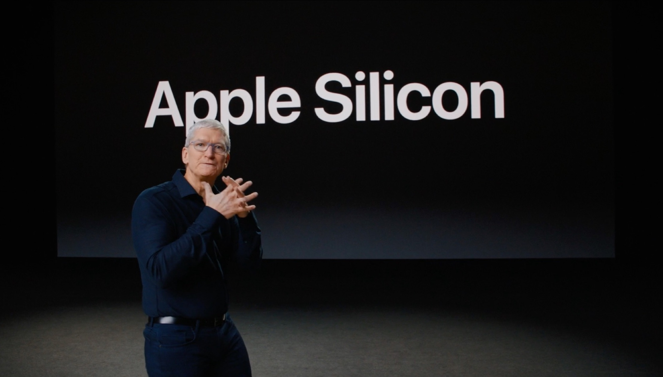 Apple Silicon and Tim Cook.