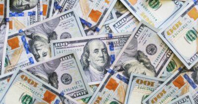 Pile of hundred dollar bills.