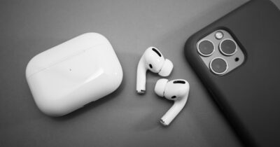 AirPods Pro and an iPhone