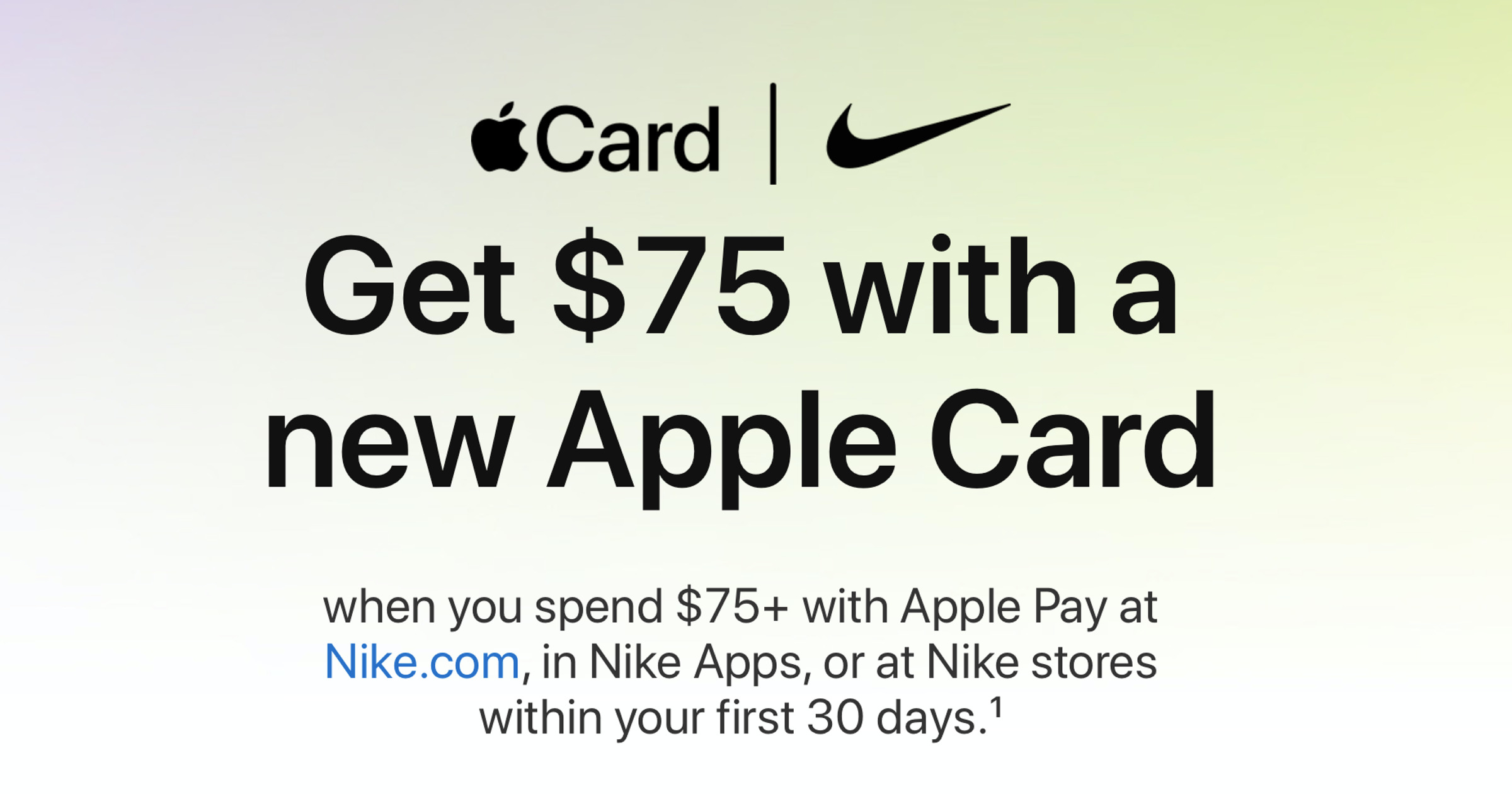 Apple Card Nike offer