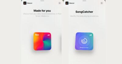 Deezer iOS 14 widgets