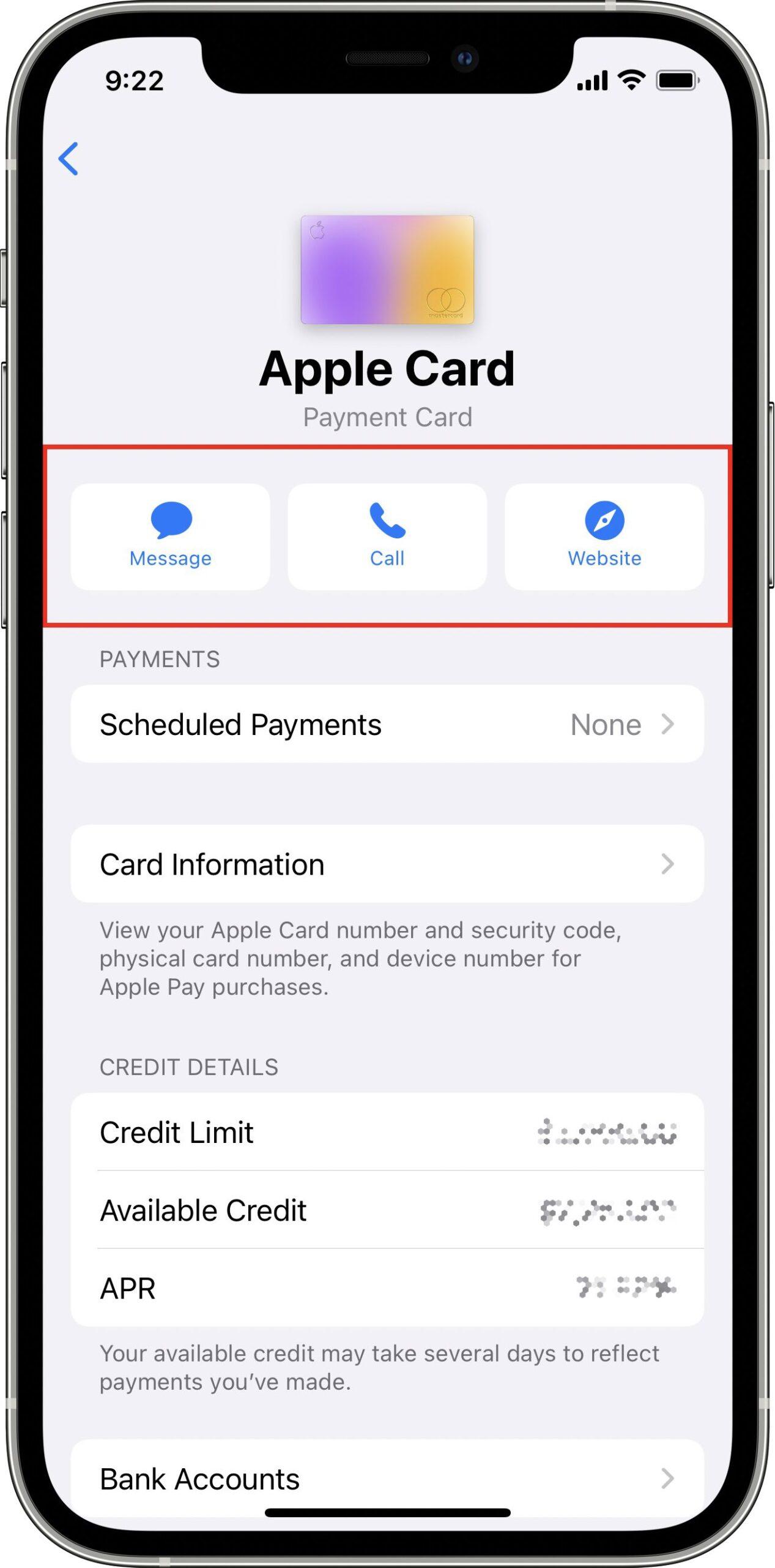 Apple Card customer support