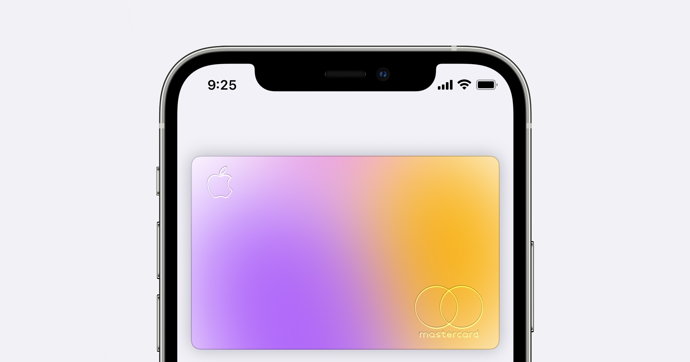Apple Card displayed on iPhone 12.