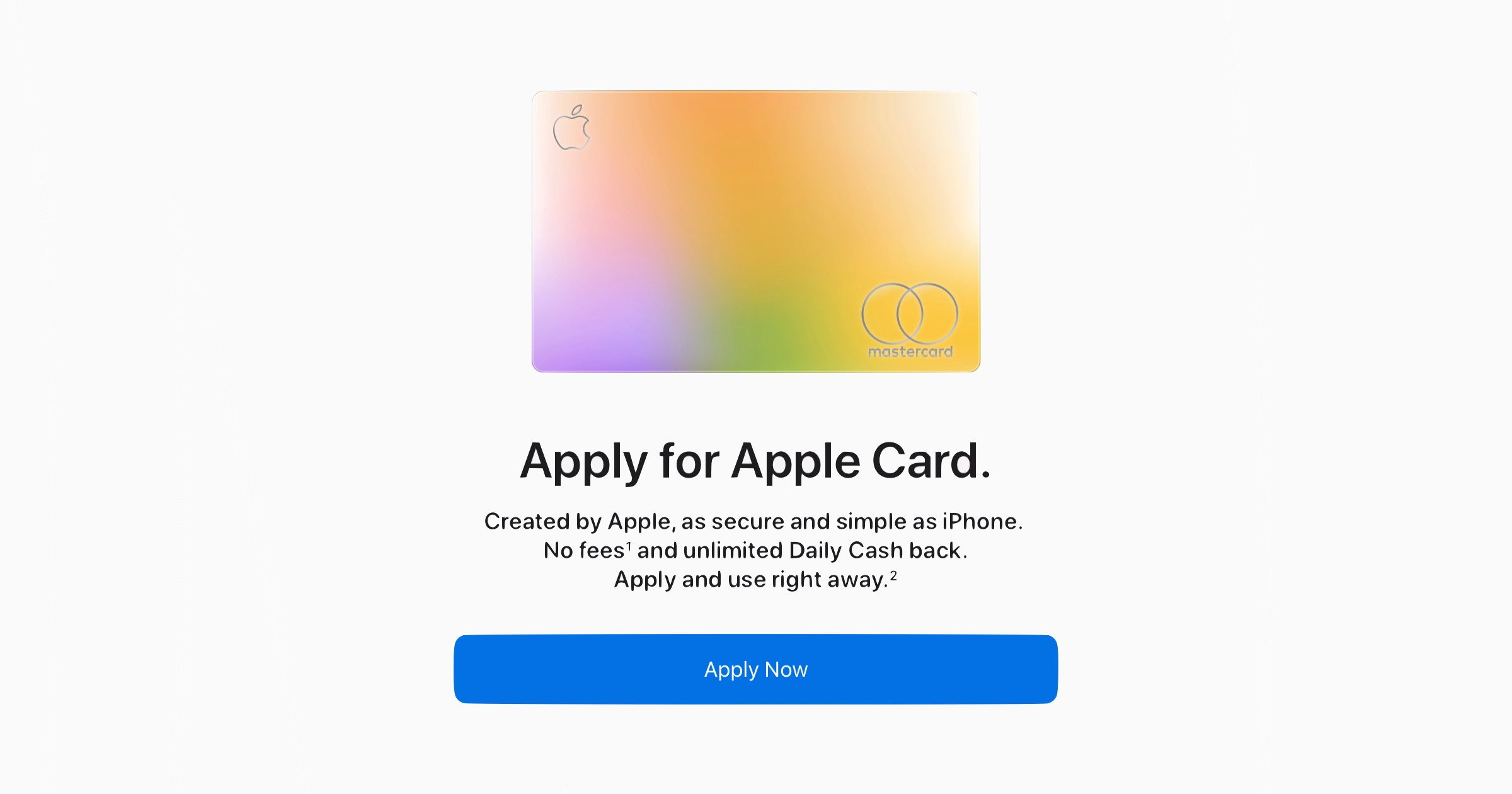 Apply for Apple Card Website