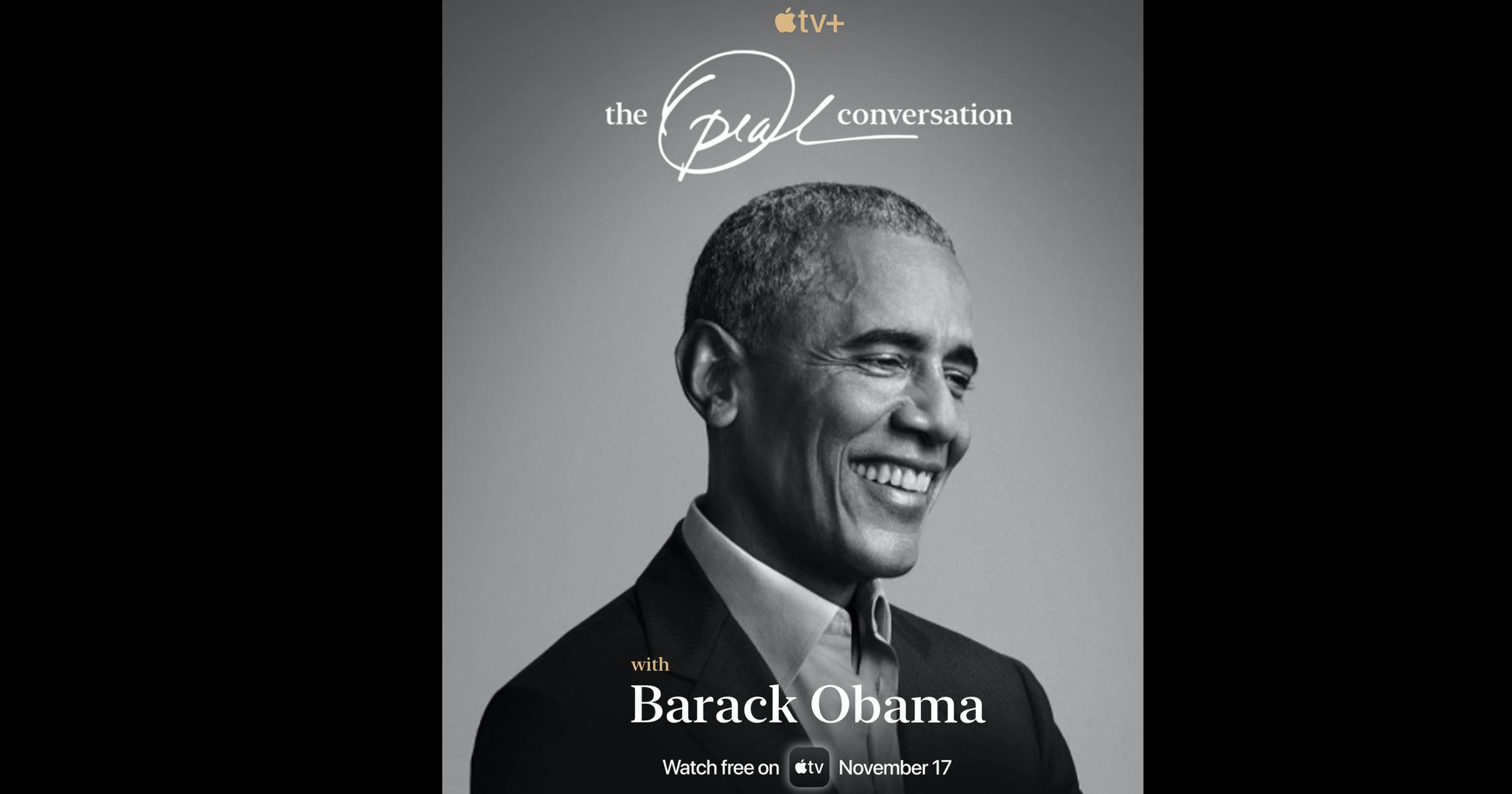 Barack Obama book cover for Oprah Winfrey Interview on Apple TV+
