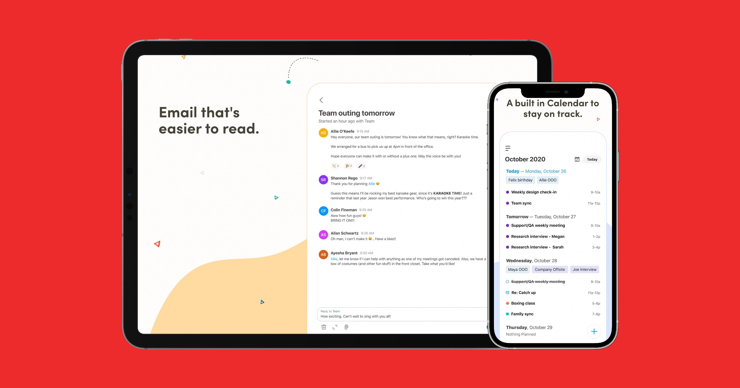 Email app twobird On iPad and iPhone