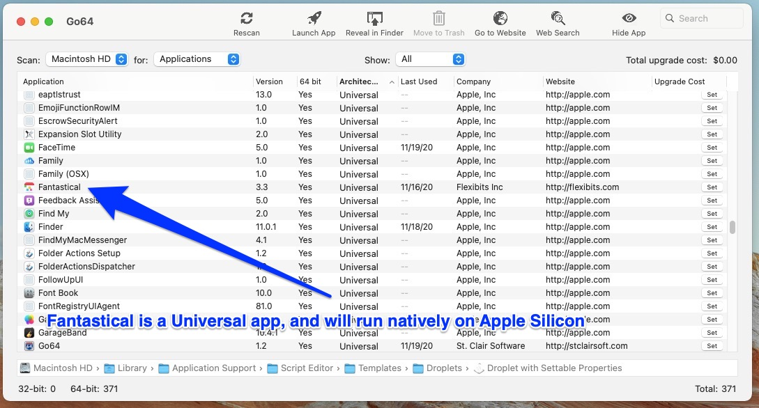 Apps like Fantastical are Universal and run natively on Intel and Apple Silicon Macs