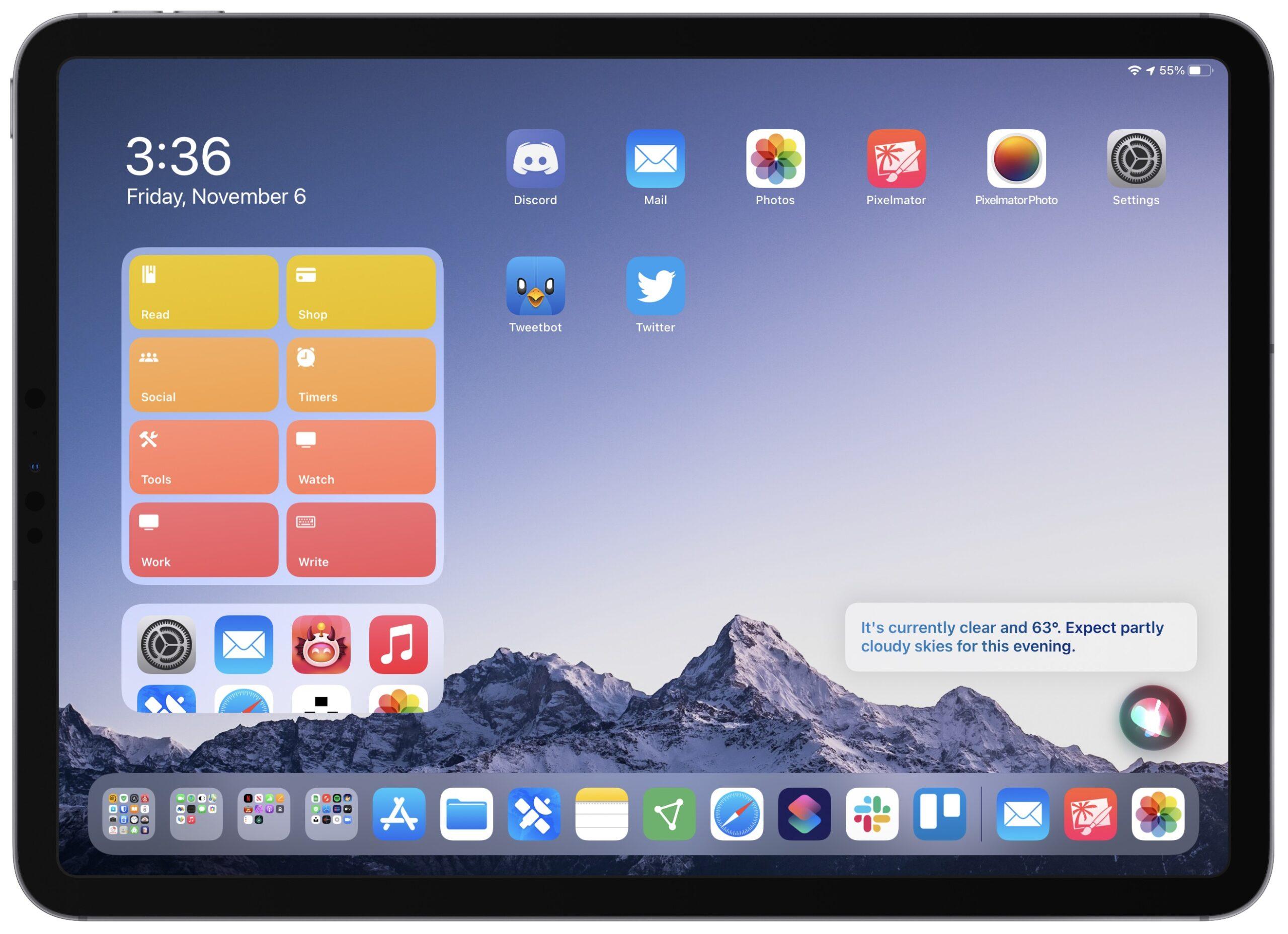 Siri personalized update on iPad