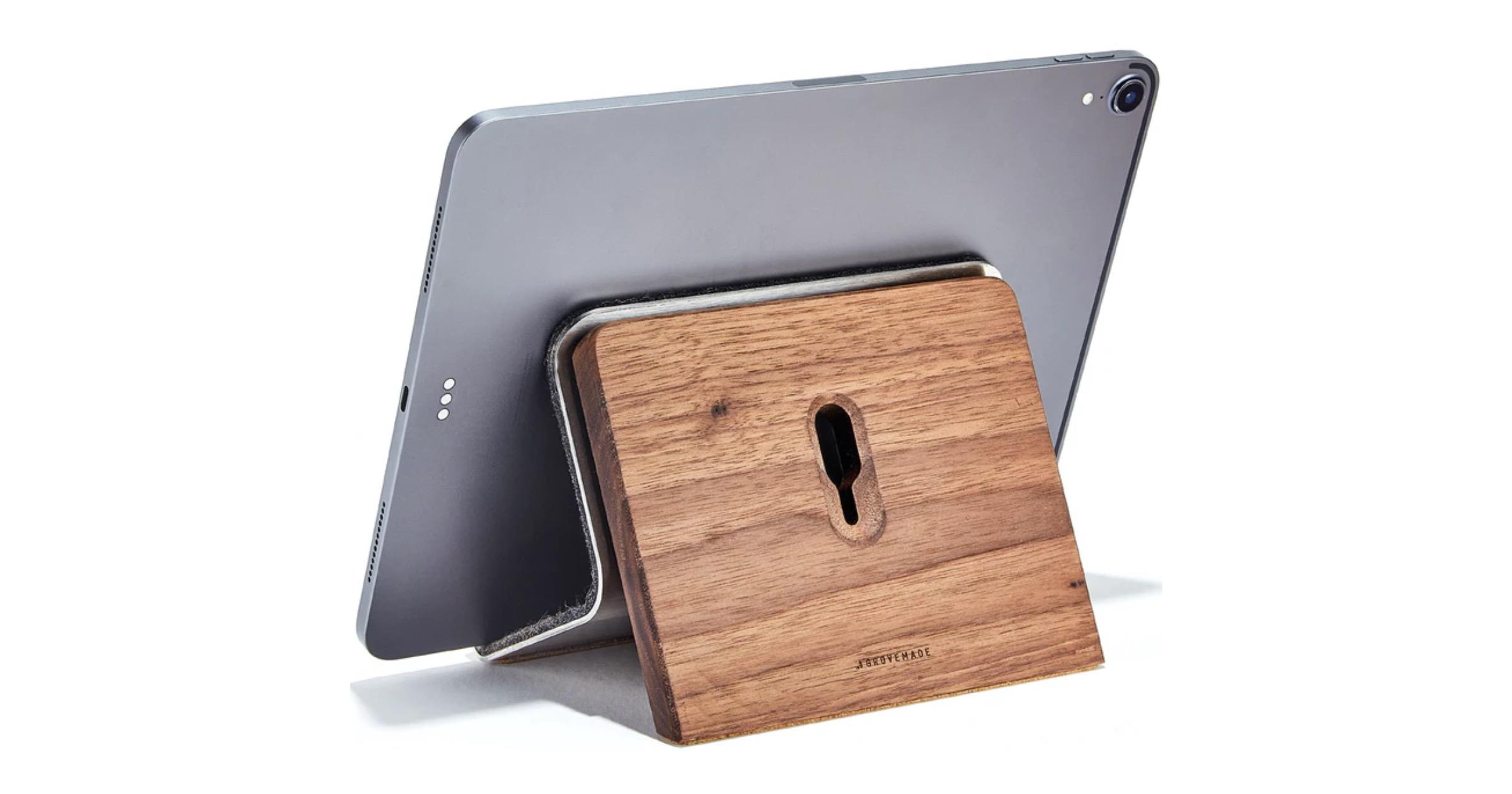 Walnut iPad Stand